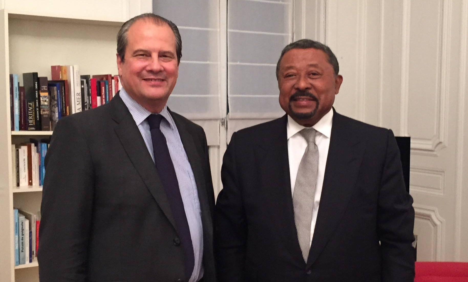 Jean christophe Cambadélis et Jean Ping à Paris octobre 2015