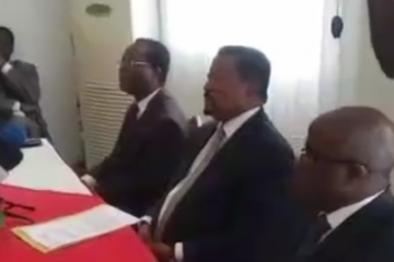 conférence de presse Jean Ping à Libreville