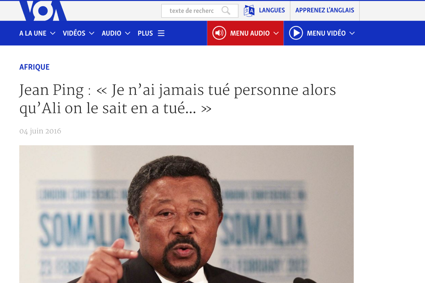 Interview VOA AFRIQUE Jean Ping