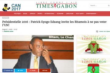 Patrick Eyogo invite les Bitamois à voter Jean Ping